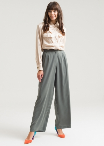 Loose Striped Trousers