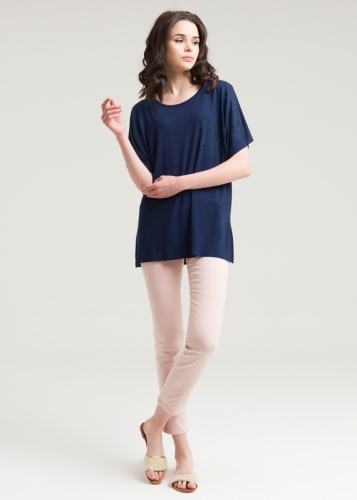 410 Short Sleeve Combed Blouse