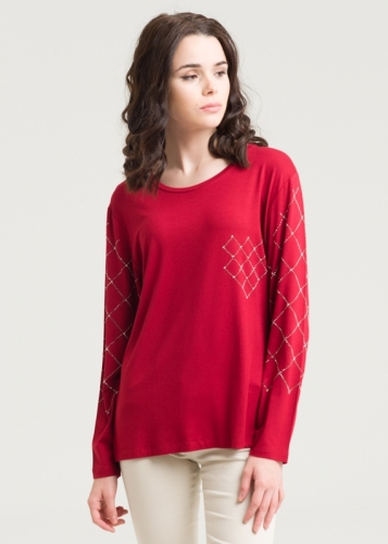 512 Long Sleeve Combed Blouse