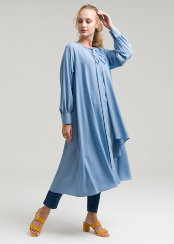 Asymmetrical Cap With Riklan sleeves