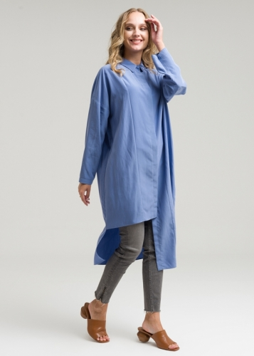 Asymmetric Tunic  With Low Sleeves