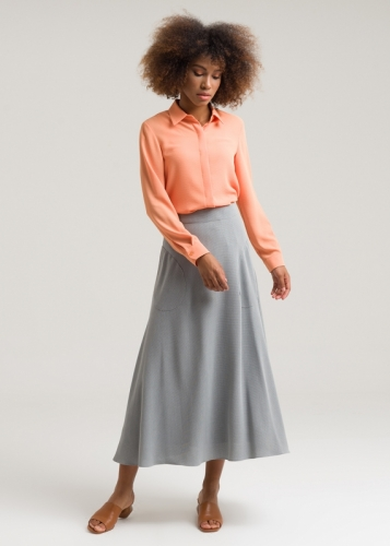 Clush Skirt With Pocket