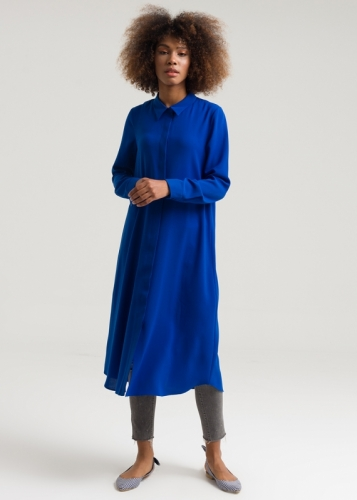 Classic Tunic With A T-Shirt Collar