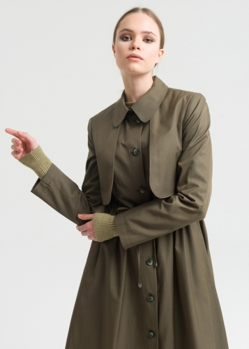 Trench Coat With Adjustable Waist