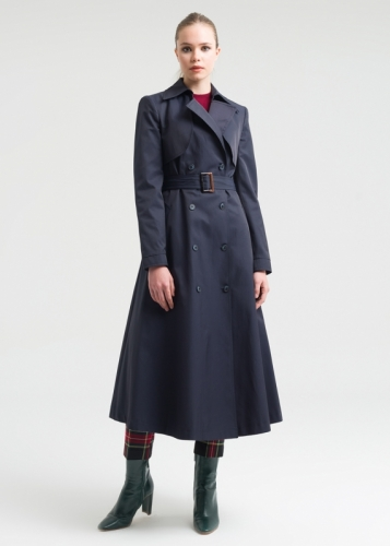 Trench Coat With Double Buttons