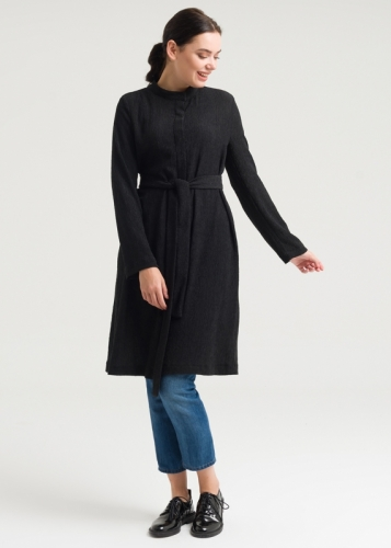 Tunic With Belt And Hakim Collar