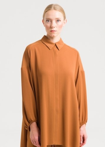 Spacious Tunic With Low Sleeves