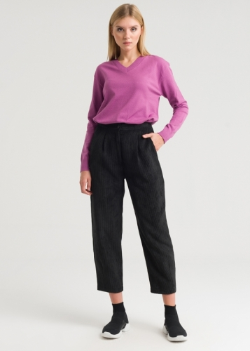 Comfortable Velvet Trousers With Pocket