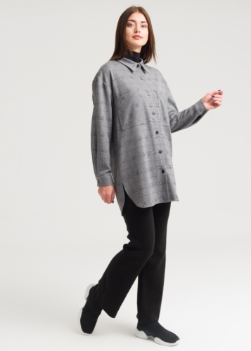 Checked Tunic With Pocket