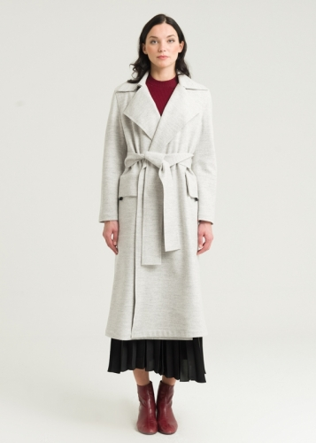Double Sided Coat With Belt