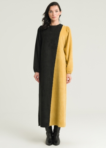 Velvet Dress With Thin Sleeves
