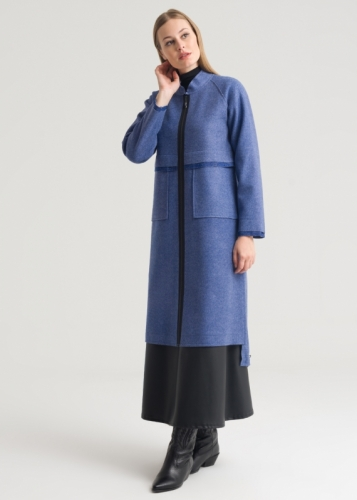 Long Oversize Asymmetric Coat