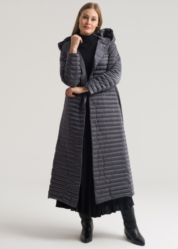 Goose Down Coat With Hat