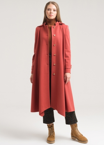 Asymmetric Coat With Hat