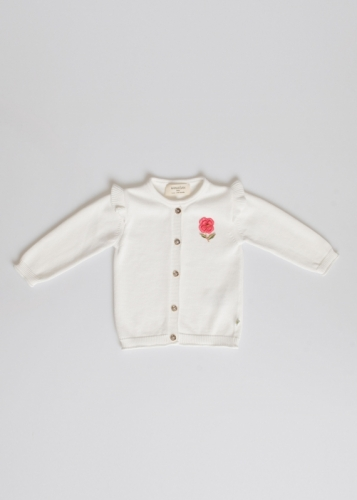 Baby Girls' Cardigan Embroidered With Roses