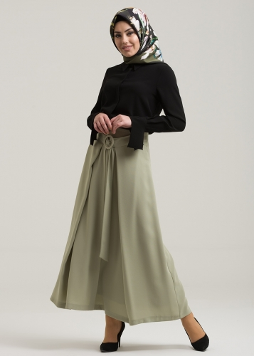 Buckle Arched  Skirt