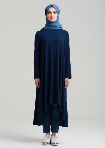 Comfortable Tunic  Behind Shirred