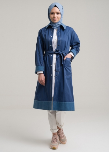 Jean Detail Trench coat