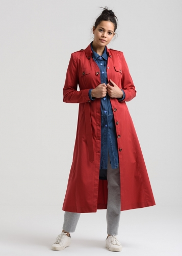 Trench Coat  With Button