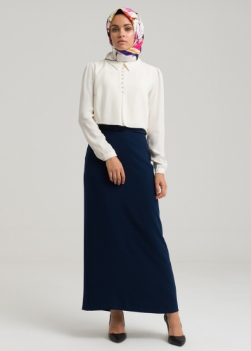 Belted Arched Skirt