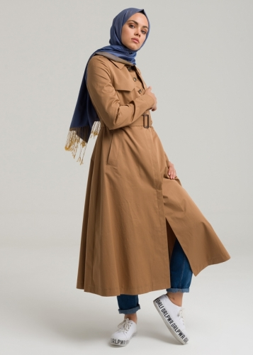 Busket Detail  Trench Coat