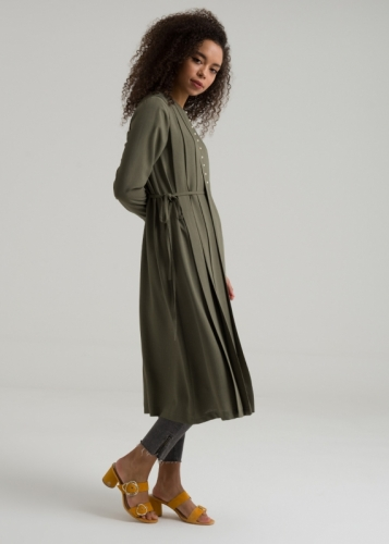 Pleated -Tunic Belted