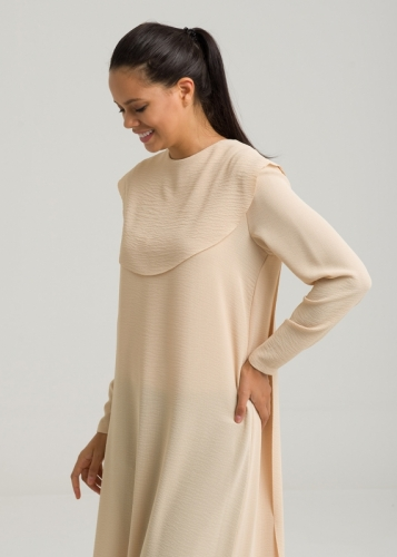 Pelerine  Detail Tunic Long