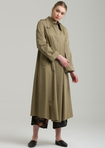 Trench Coat with Zippered