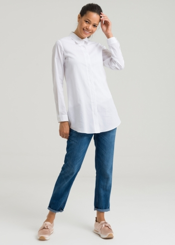 Short Poplin Blouse