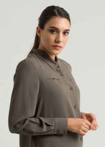 Shirt Collar Button with Tunic