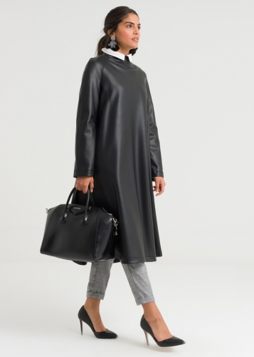 Raglan Sleeve  Leather Tunic