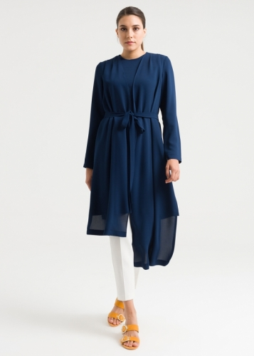 Aller with Button  Belted Tunic