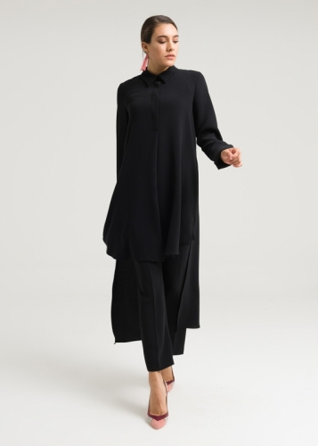 Tunic Long Behind/Side Slit Slash