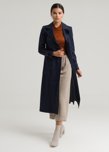 Double Breasted Belted Tranchcoat