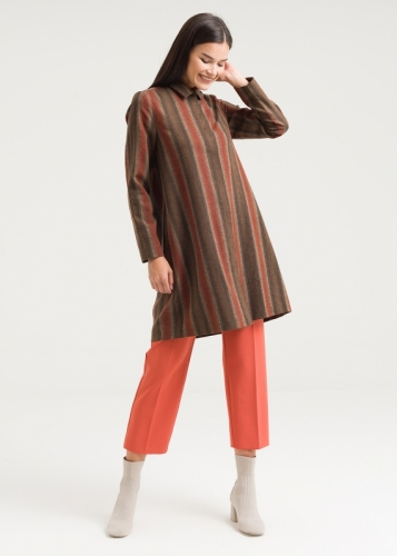Trimmer Detailed Patterned Tunic