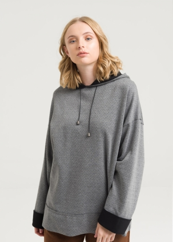 Low Arm Hooded  Sweatshirt