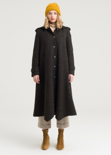 Asymmetric Hooded Coat
