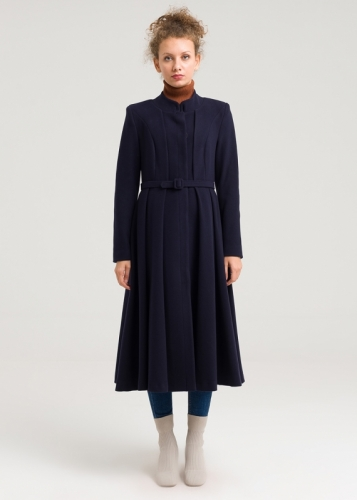Pleated  Detail Coat
