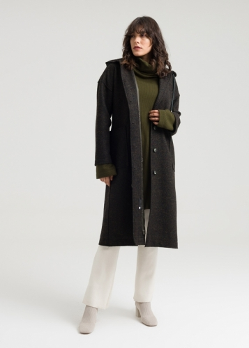 Big Pocket Hooded Coat