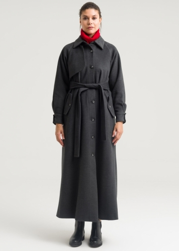 Coat with buttons with detailed Ricklan sleeves