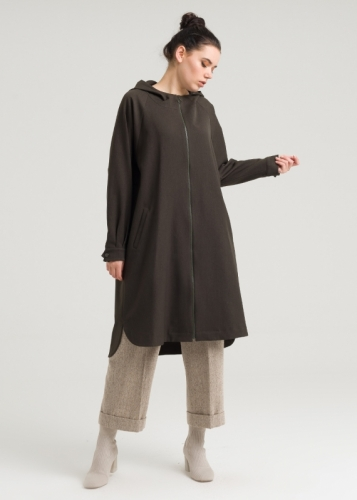 Hooded  with Zippered Tunic