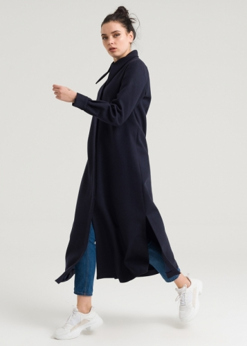 Shirt Collar-Long Felt Tunic