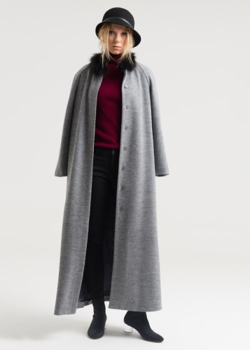 Coat With Riklan Sleeve