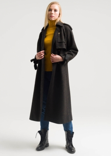 Coat With Riklan Sleev