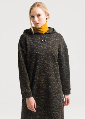 Colored Hooded Tunic