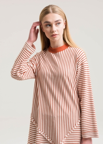 Patchwork Striped Sweatshirt