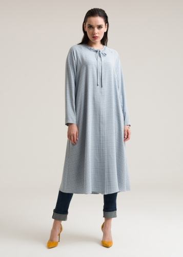 Tunic With A Striped Collar