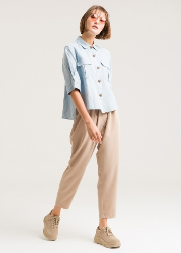 Comfortable Trousers With Lastic In The Waist