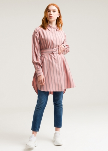 Striped Tunic With Belt