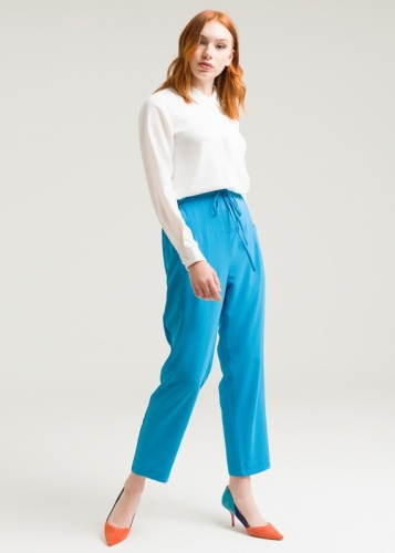 Striped Trousers With High Waist